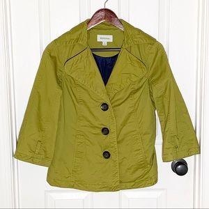 Merona Green Cropped Pea Coat Size Small